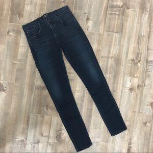 Agolde Colette dark wash skinny jeans